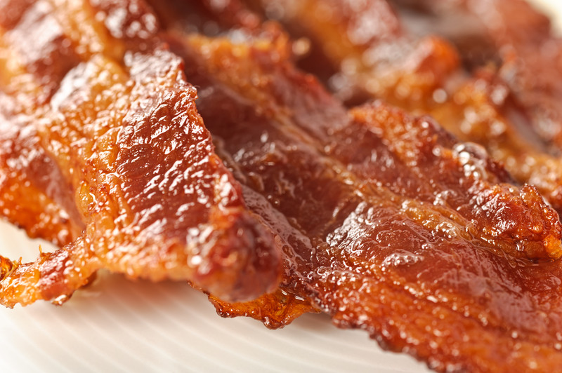 Tasty strips pork