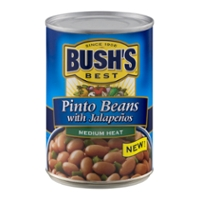 Bush's Best Pinto Beans With Jalapenos, Medium Heat 16 Oz